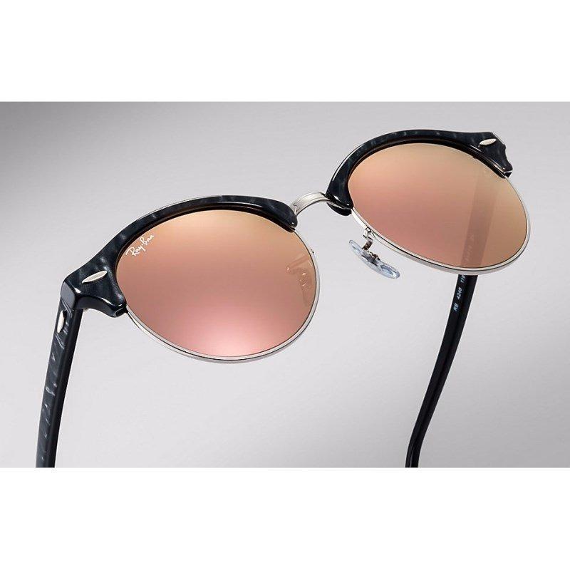 ffdb535f2 óculos de sol ray ban clubround rb4246 1197-z2 51 preto/rosa. Carregando  zoom.