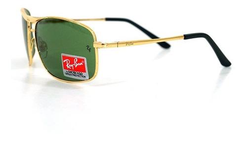 óculos de sol ray-ban dourado