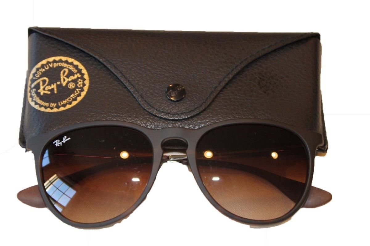 Óculos De Sol Ray Ban Erika Rb 4171 Marrom Original Feminino - R ... ac43667924