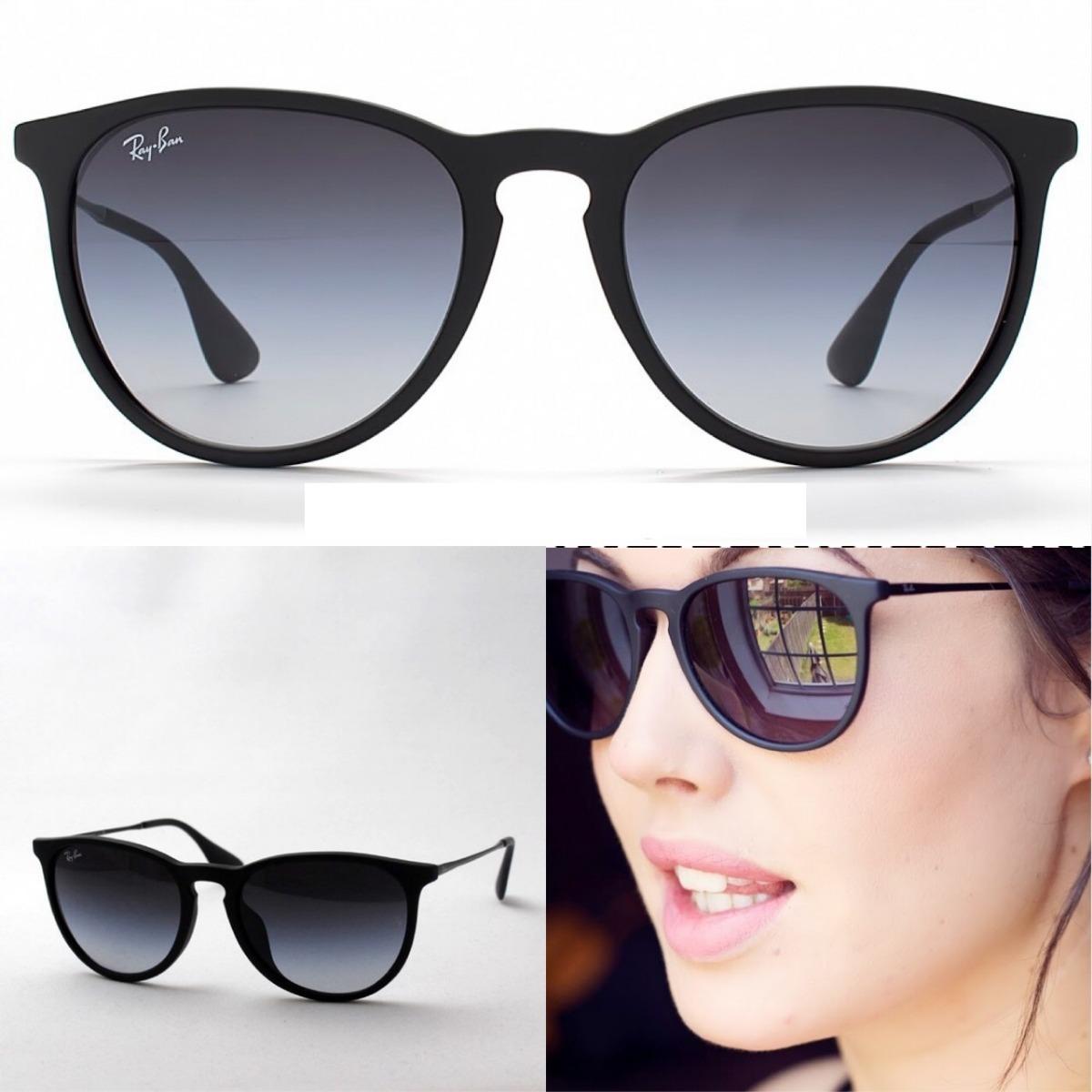 49eecb8e76aa1 Oculos De Sol Ray Ban Erika Rb4171 Feminino - R  269,49 em Mercado Livre