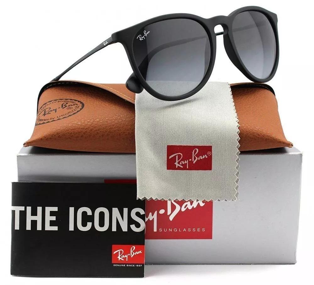 Oculos De Sol Ray Ban Erika Rb4171 Feminino Classico - R  269 7af250cb33f9d