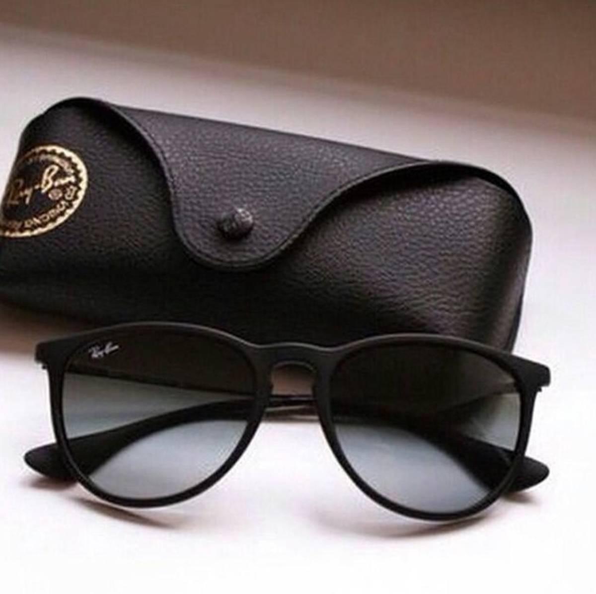 ff89ebe5e933c óculos de sol ray ban erika rb4171 gatinha preto feminino. Carregando zoom.