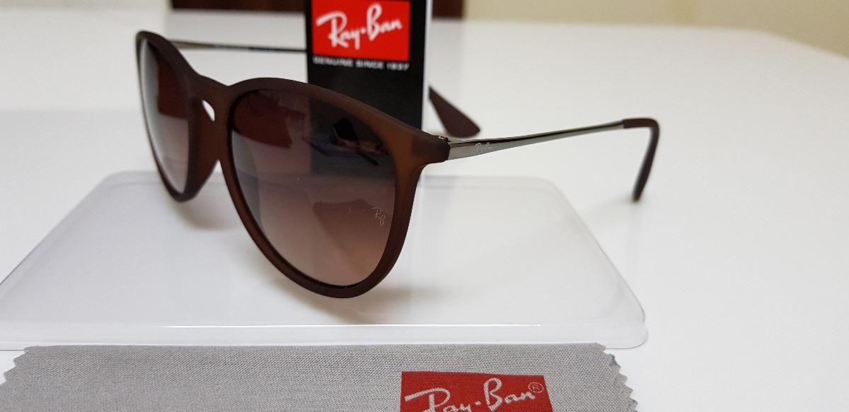 óculos de sol ray-ban érika rb4171 marrom clássico original. Carregando  zoom. dd10b2f61d