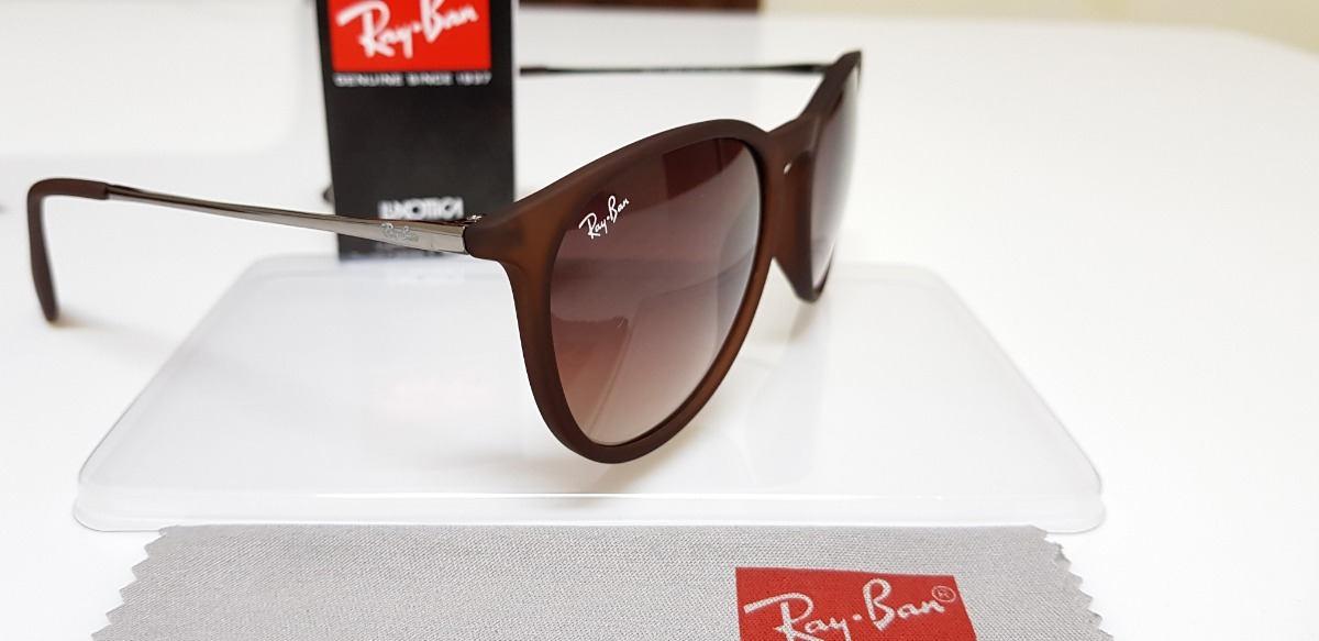 23184d4368 óculos de sol ray-ban érika rb4171 marrom clássico original. Carregando  zoom.