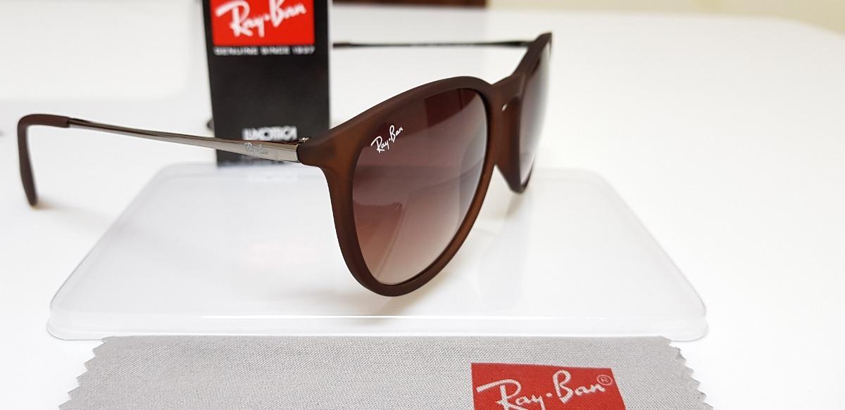 Óculos De Sol Ray-ban Érika Rb4171 Marrom Clássico Original - R  290 ... efdeade7088ac