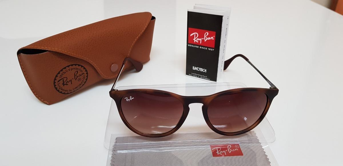 óculos de sol ray-ban érika rb4171 marrom tartaruga original. Carregando  zoom. c861b1a078