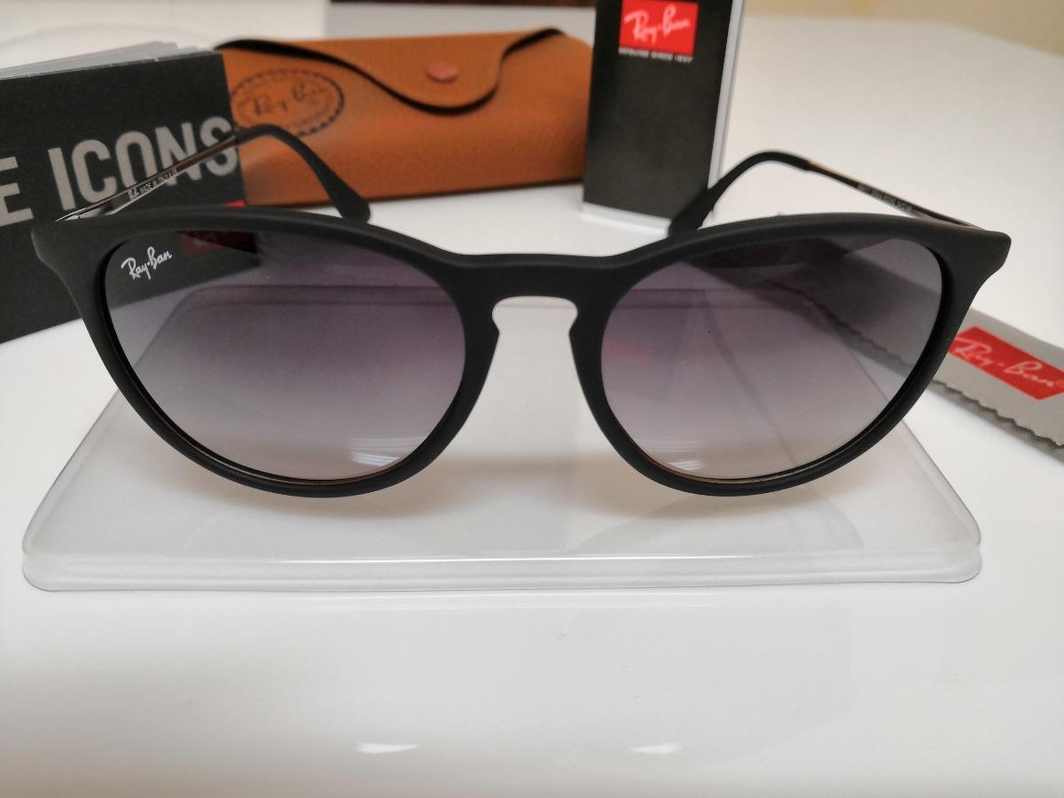 a6b37cacd5ac4 Óculos De Sol Ray-ban Érika Rb4171 Preto Clássico - R  290,00 em ...
