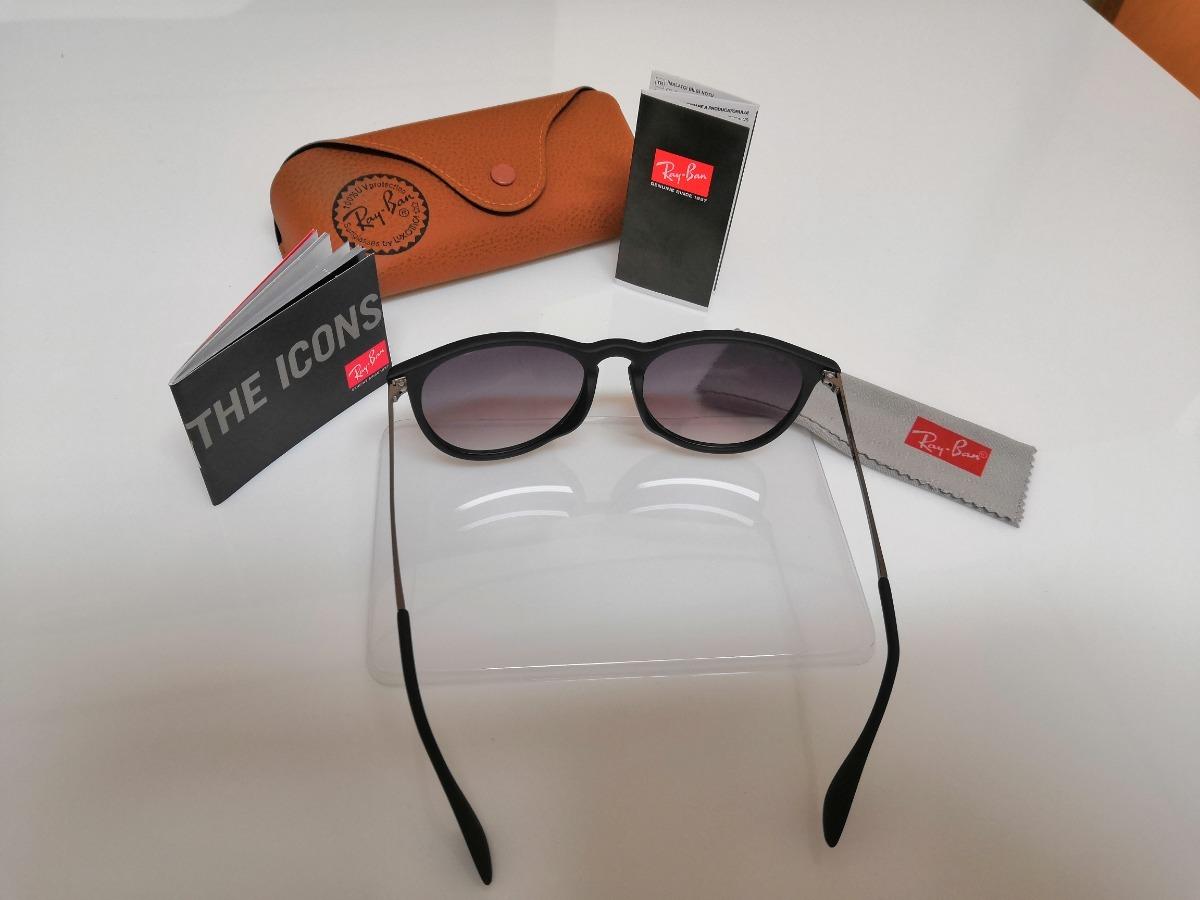 cecd07a045401 óculos de sol ray-ban érika rb4171 preto clássico. Carregando zoom.