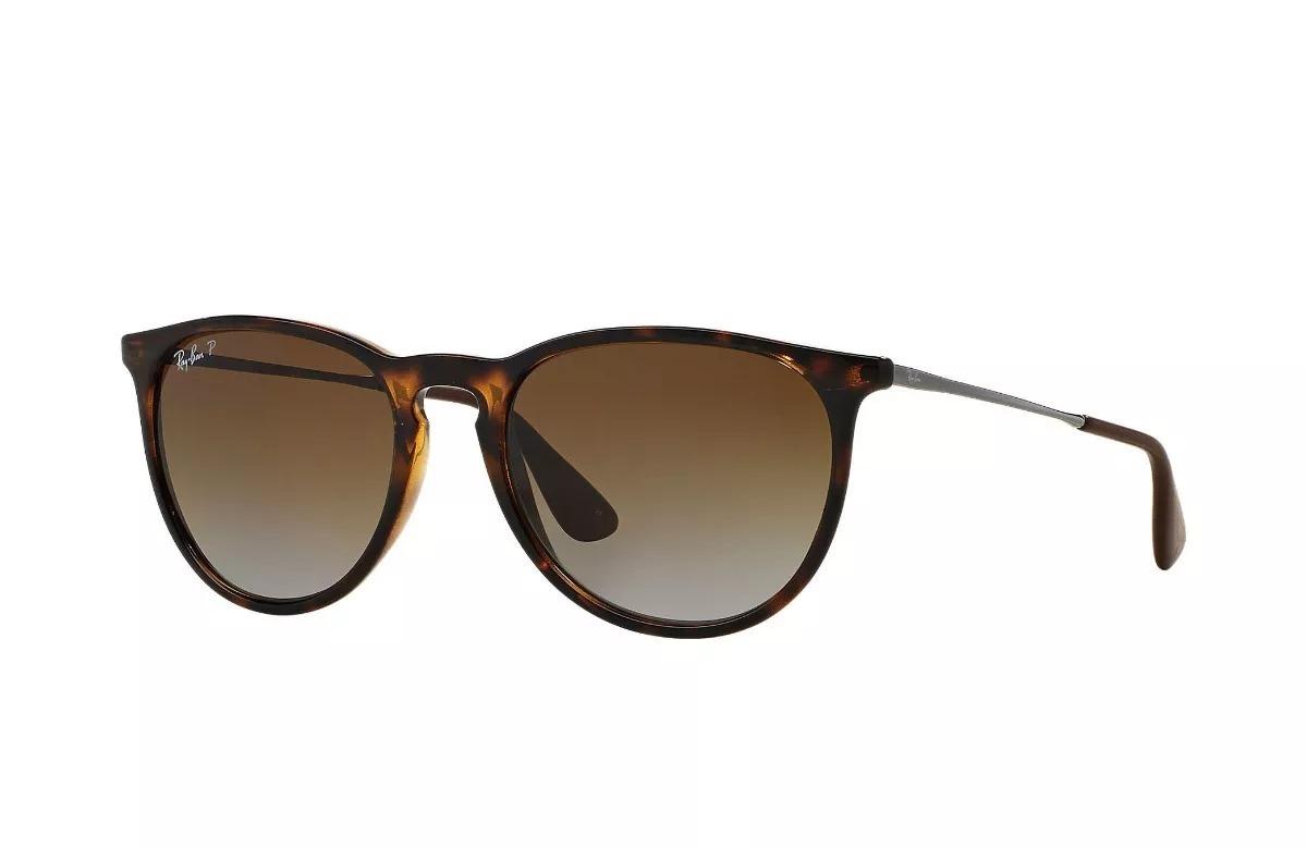 Óculos De Sol Ray Ban Erika Rb4171 Tartaruga Lente Verde - R  299,90 ... 92d643b905