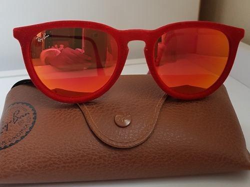 Óculos De Sol Ray Ban Erika Velvet Vermelho (veludo) - R  269,49 em ... 4d1ff5183f