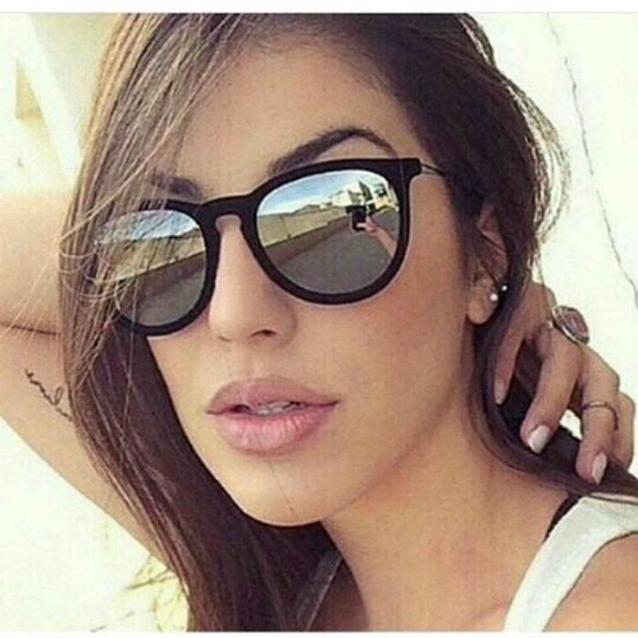 Óculos De Sol Ray Ban Feminino Erika Preto Fosco - R  190,00 em ... 7a84e9802f