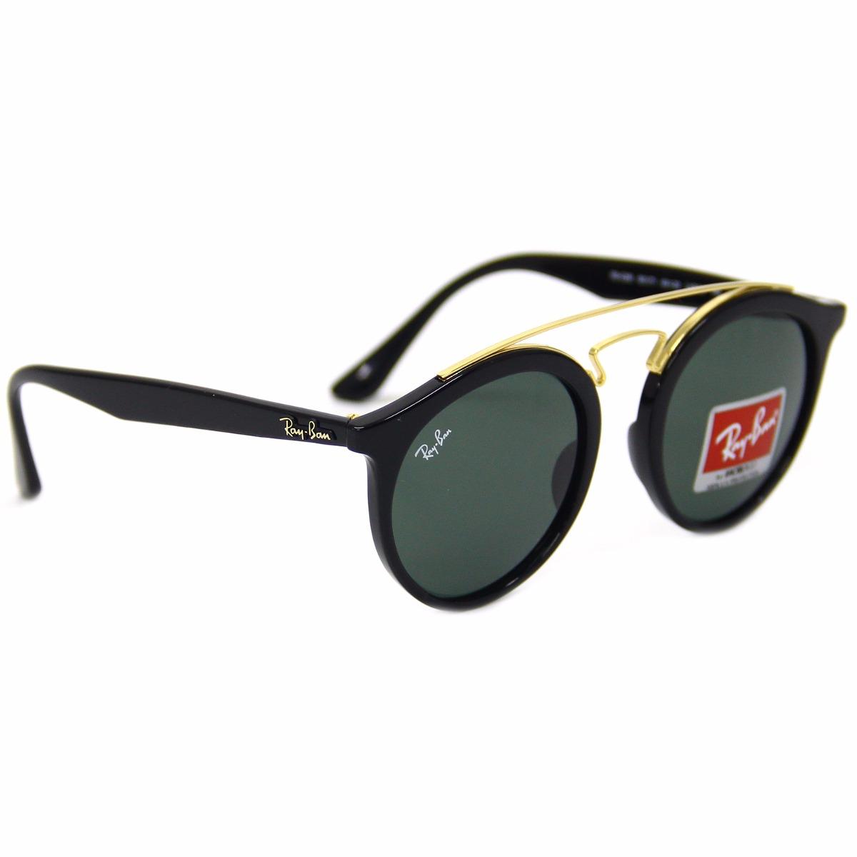 3b542255c óculos de sol ray ban gatsby redondo preto 4256 601/71. Carregando zoom.