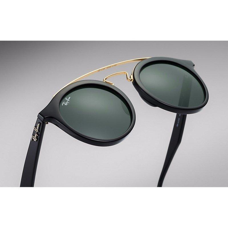 6ac6cb1e2 Óculos De Sol Ray Ban Gatsby Redondo Rb4256 601/71 49 Preto/ - R$ 490,00 em  Mercado Livre