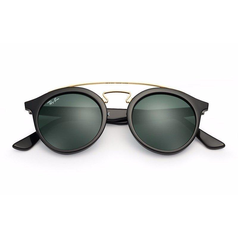 7b1525cf2953 Óculos De Sol Ray Ban Gatsby Redondo Rb4256 601 71 49 Preto  - R ...