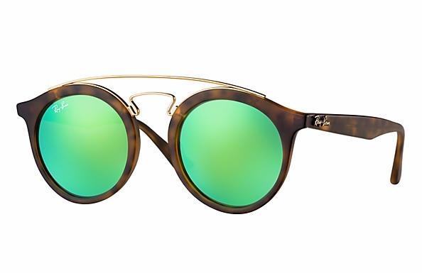 c3a93e61d03b8 Óculos De Sol Ray Ban Gatsby Verde Espelhado - R  522