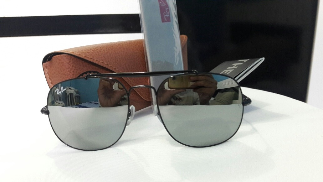 01a5a773d417a óculos de sol ray ban general original espelhado cinza. Carregando zoom.
