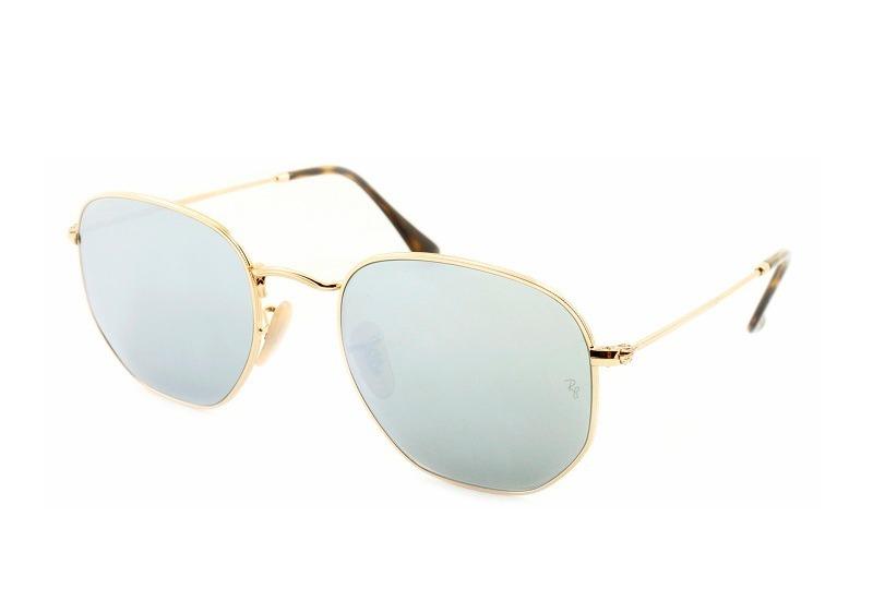óculos de sol ray-ban hexagonal espelhado rb 3548n 001 30. Carregando zoom. b1af30e80f