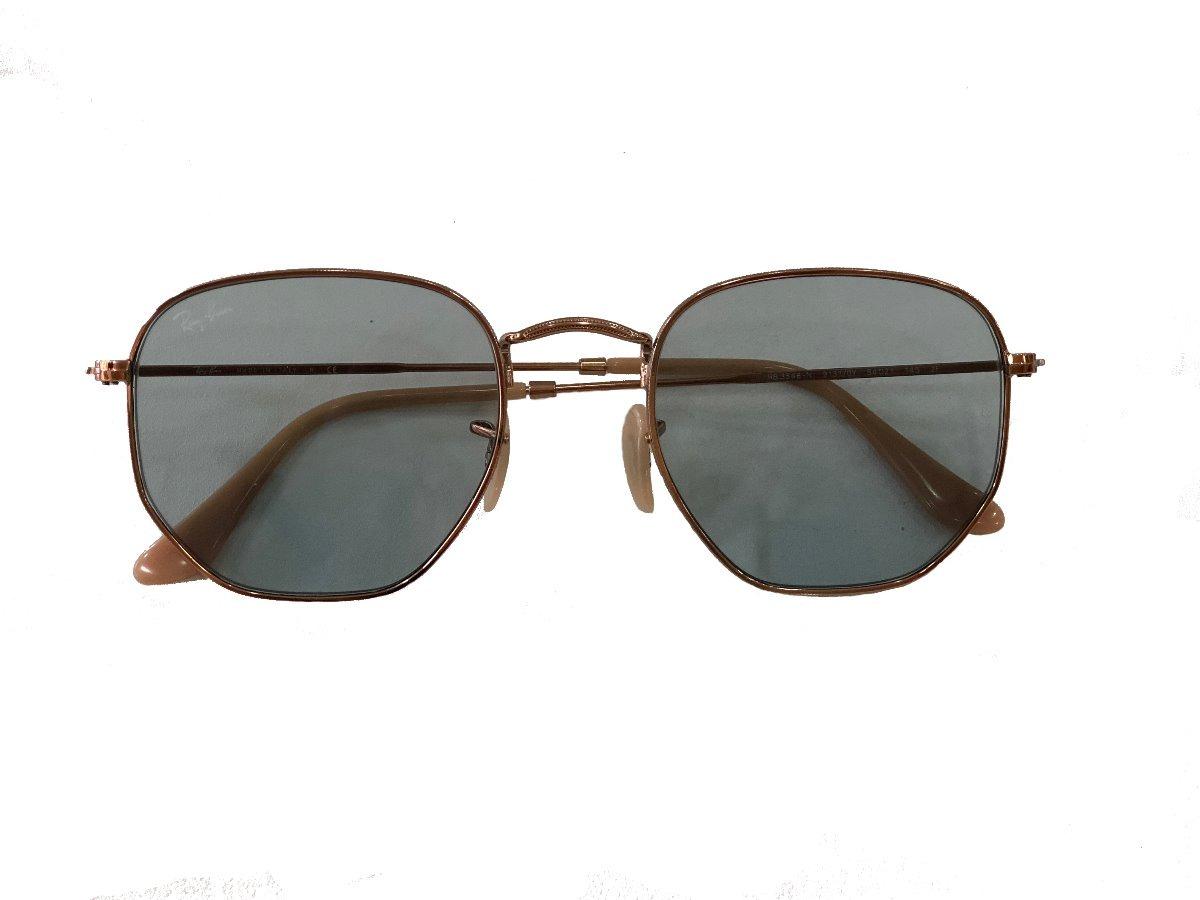 23419d15f7270 óculos de sol ray ban hexagonal flat lenses rose gold. Carregando zoom.
