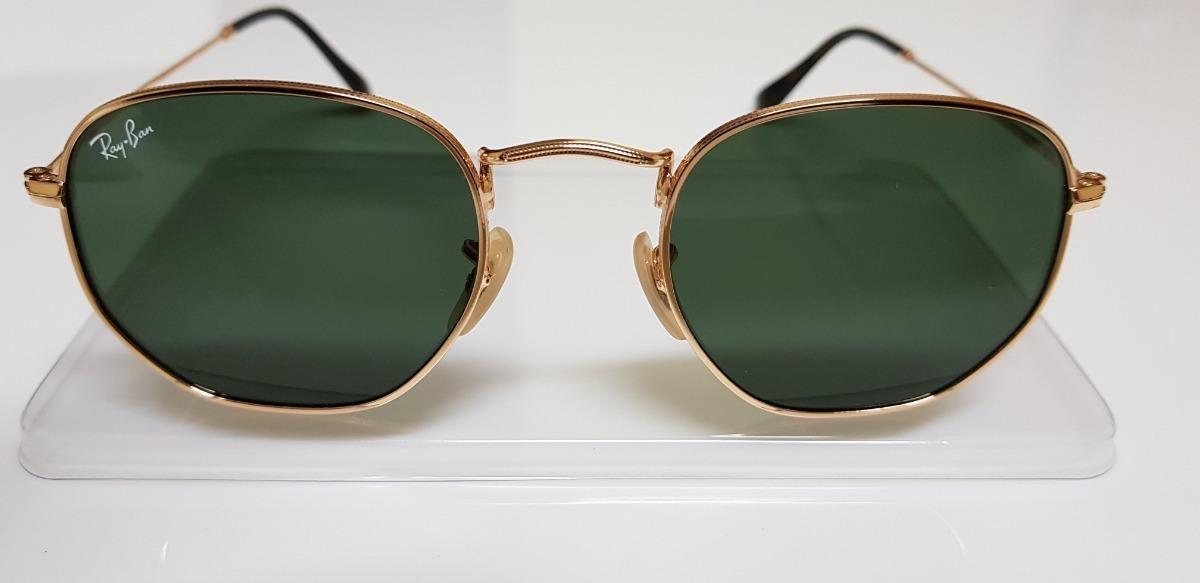 07d2dd2e01859a  óculos de sol ray-ban hexagonal metal rb3548n verde g15 001.  Carregando zoom. 4fffe409ac