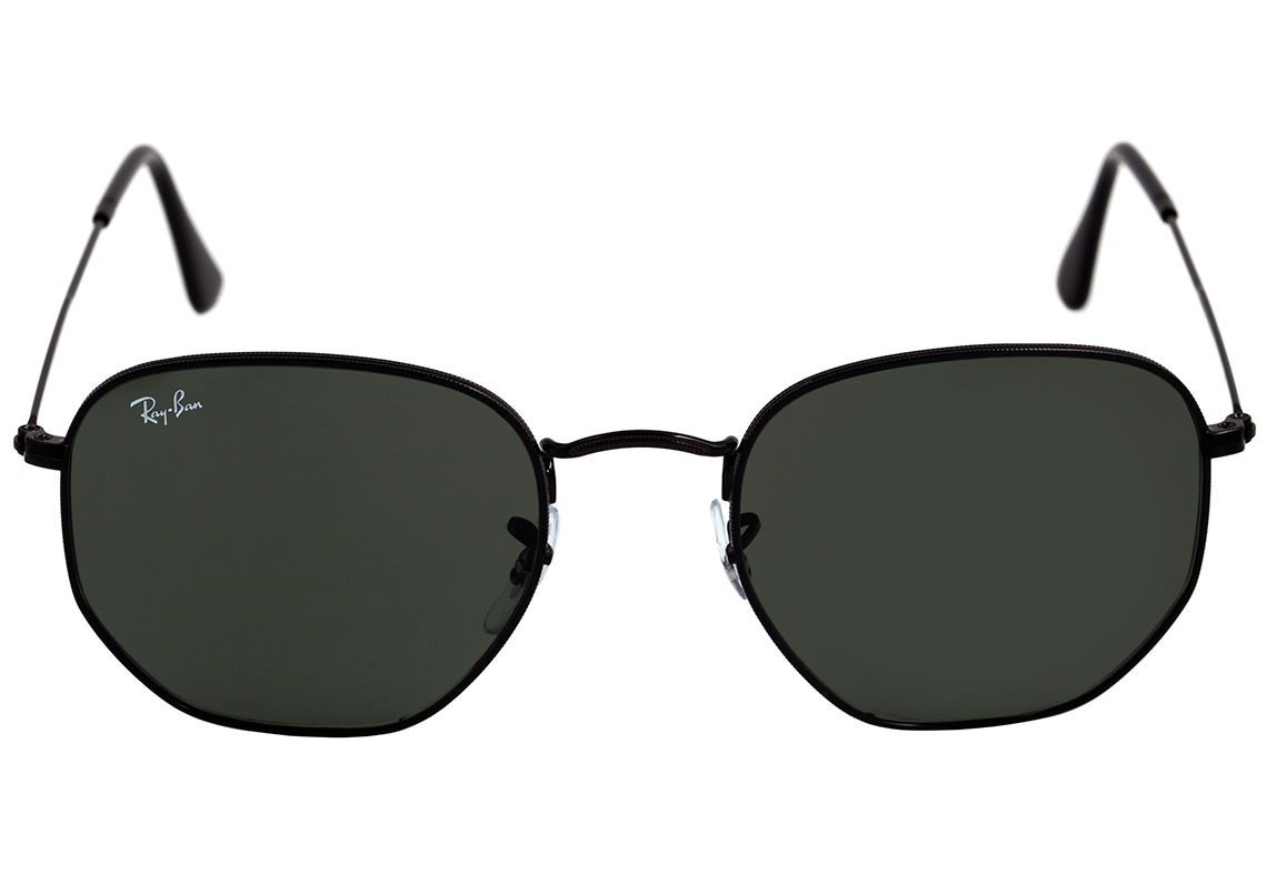 329cd9fdf óculos de sol ray-ban hexagonal preto masculino feminino. Carregando zoom.