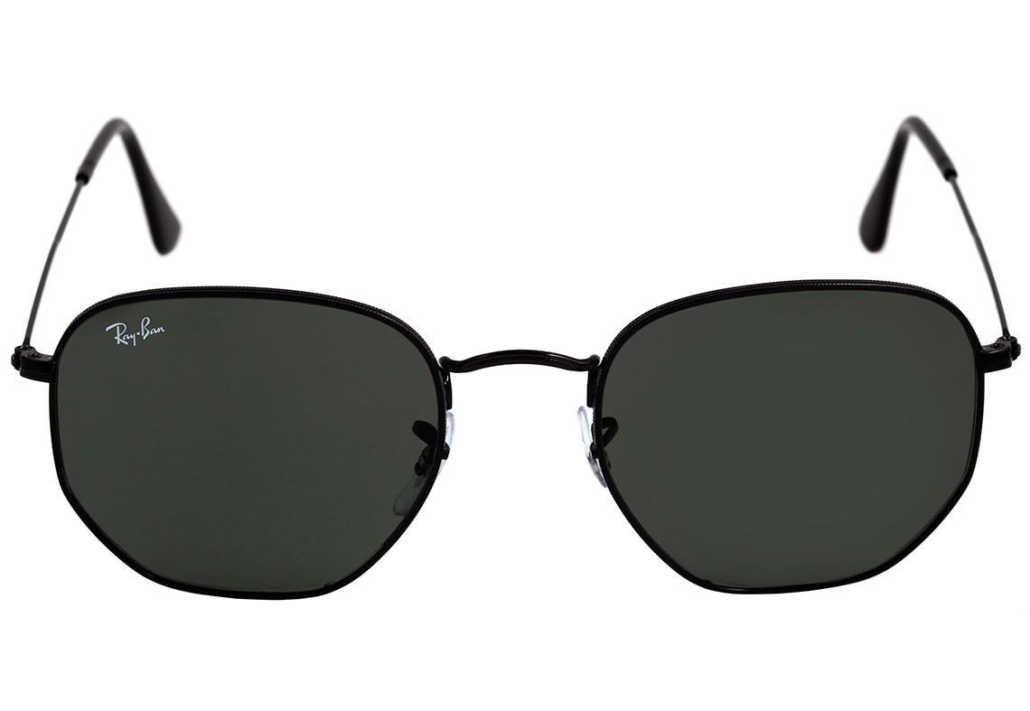 Oculos De Sol Ray-ban Hexagonal Preto Masculino Promoção - R  88,80 ... e2aa49726f