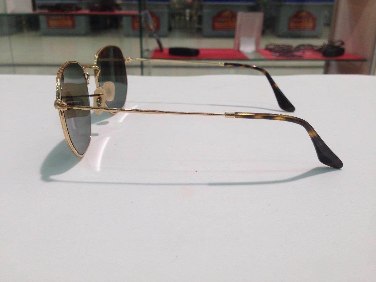 21ca4563377d3 óculos de sol ray ban hexagonal rb 3548-n 001 tradicional. Carregando zoom.