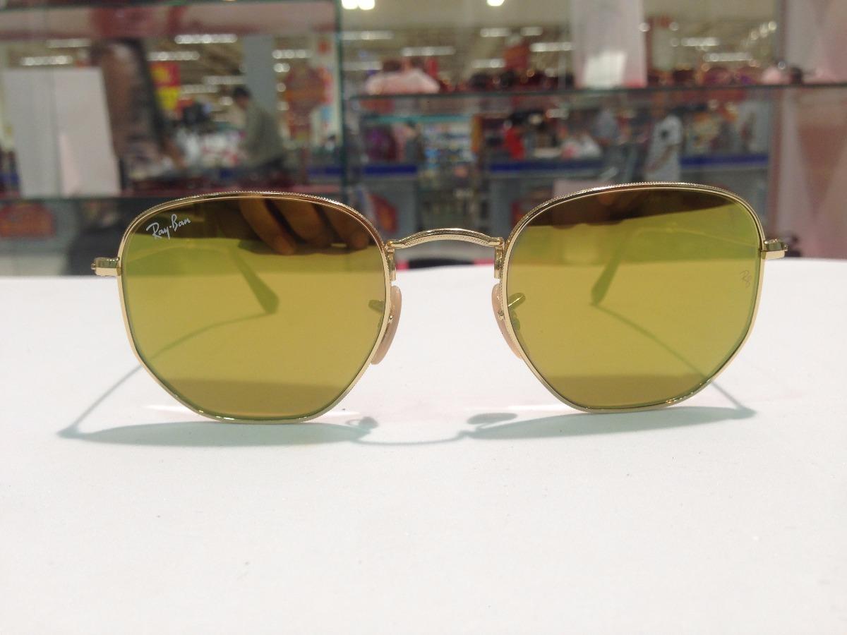 8ef32cb6fee09f Óculos De Sol Ray Ban Hexagonal Rb 3548-n 001 93 - R  553,27 em ...
