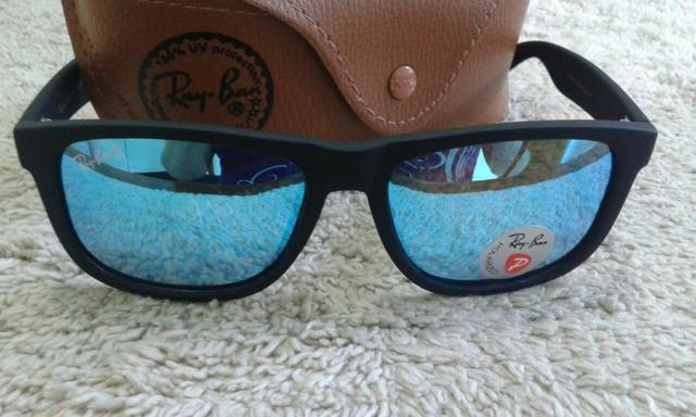 89fc74faa ... italy óculos de sol ray ban justin azul rb4165 polarizado unissex 257fb  2d64f