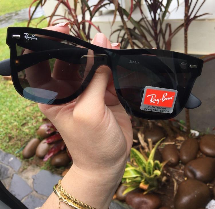 58c285a2b038a Oculos De Sol Ray Ban Justin Blaze Preto Masculino Lançament - R ...