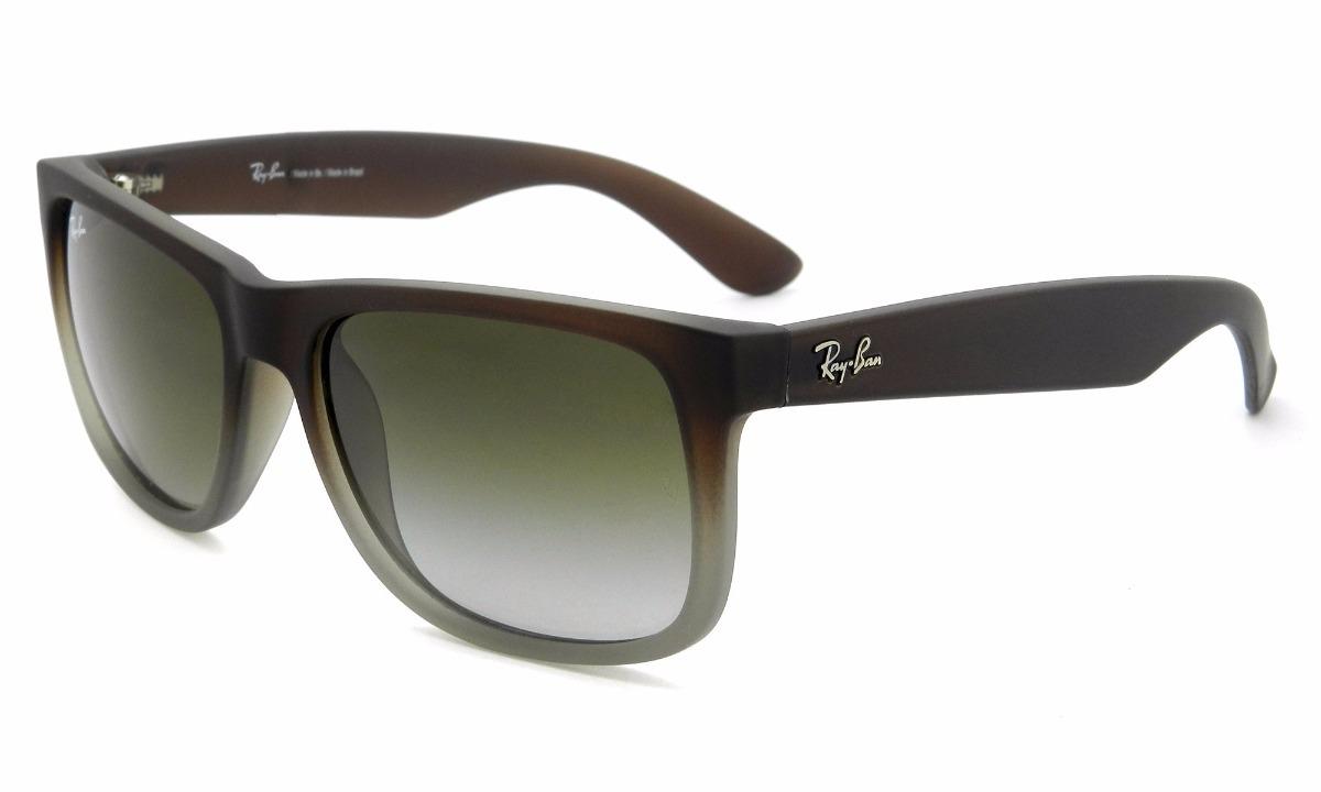 7c8def127c1b4 Óculos De Sol Ray Ban Justin Clássico Marrom Verde Degradê - R  460 ...