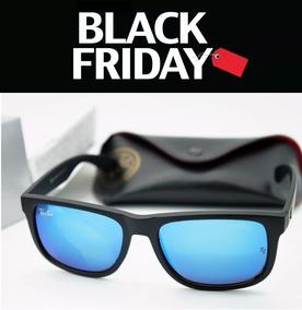 0de1759c6 Óculos De Sol Ray Ban Justin Rb4165 Azul Água Polarizado