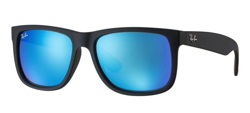 ab26d8231 óculos de sol ray ban justin rb4165 azul espelhado original. Carregando  zoom.