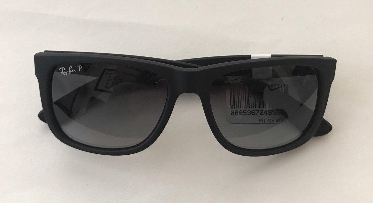 1d35178d5f óculos de sol ray ban justin rb4165 polarizado original. Carregando zoom.