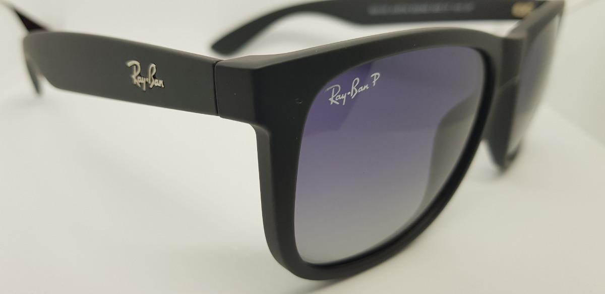 Óculos De Sol Ray-ban Justin Rb4165 Preto Clássico Degradê - R  240 ... 30ece59913