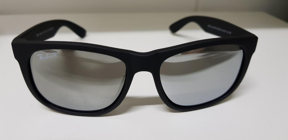 9181e8399710d óculos de sol ray-ban justin rb4165 preto espelhado clássico. Carregando  zoom.