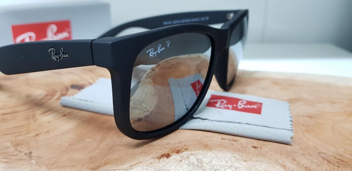Óculos De Sol Ray-ban Justin Rb4165 Preto Espelhado Clássico - R ... d4a916ff3a