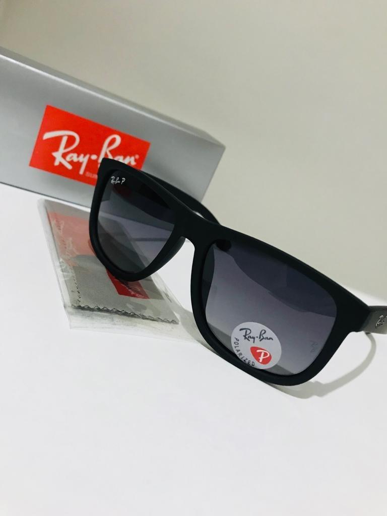 1fe51e9750cb4 Oculos De Sol Ray Ban Justin Rb4165 Preto Lente Polarizada - R  149 ...
