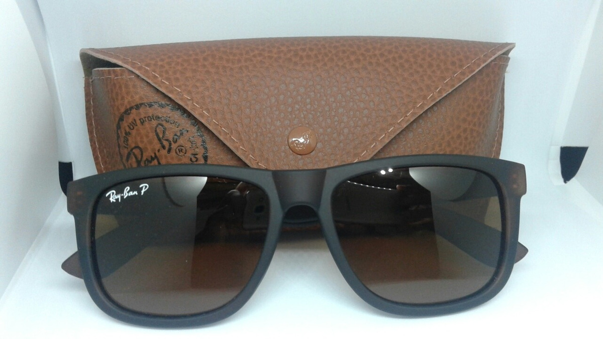 Óculos De Sol Ray Ban Justin Rb4165 Preto Masculino Polariza - R  85 ... df7f5df847