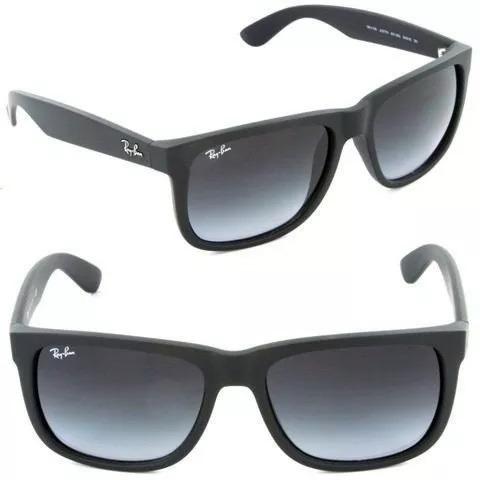 Óculos De Sol Ray Ban Justin Rb4165 Preto Masculino Polariza - R  66 ... b20fad9547