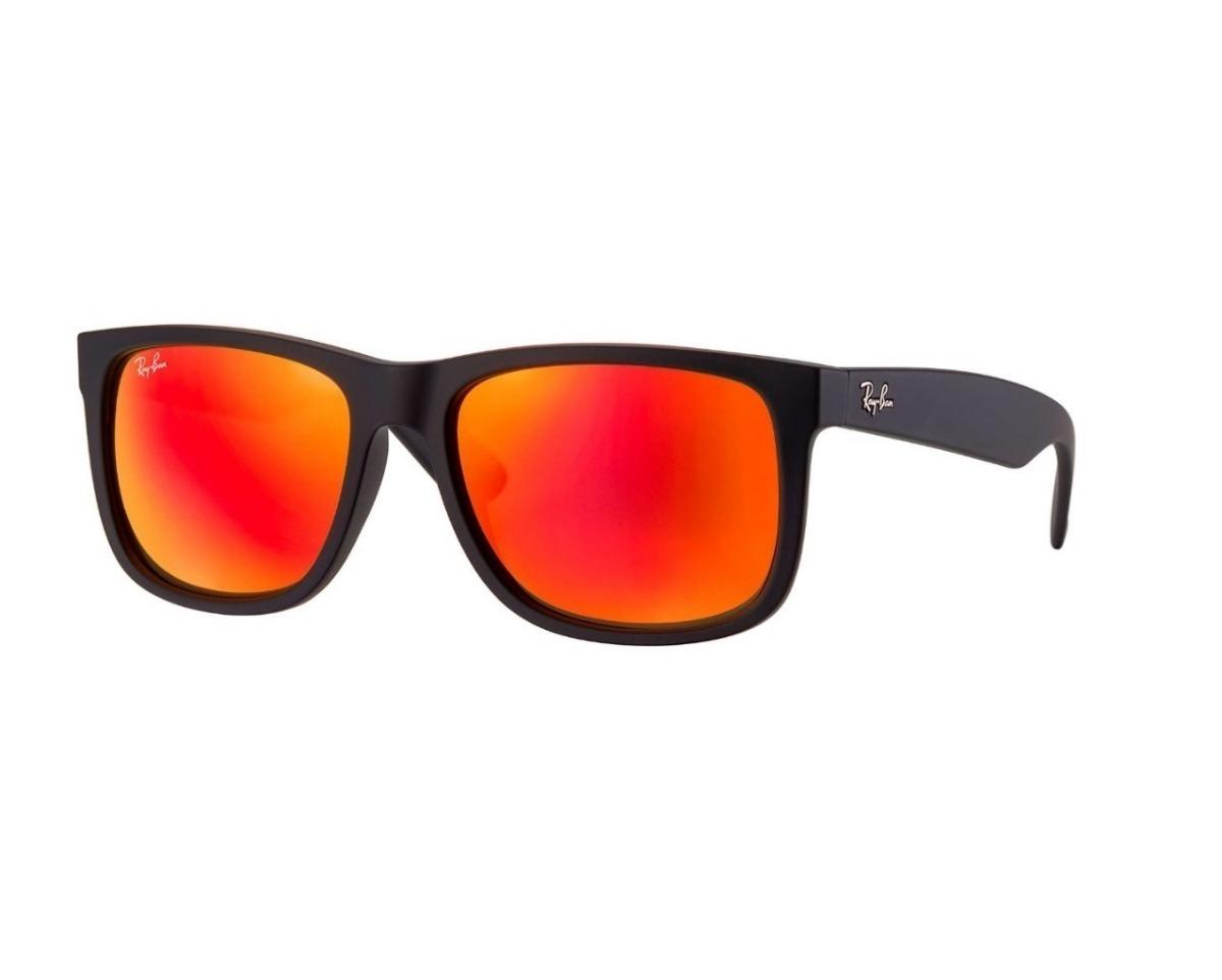 óculos de sol ray ban justin rb4165 preto masculino polariza. Carregando  zoom. ab69b6d879