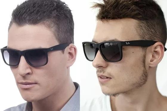 02e5f3a2f Óculos De Sol Ray Ban Justin Rb4165 Preto Masculino Polariza - R$ 120,00 em  Mercado Livre