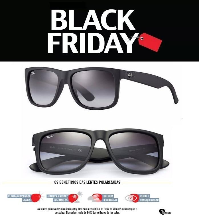 394e411c6 Oculos De Sol Ray Ban Justin Rb4165 Preto Unissex Polarizado - R$ 58 ...