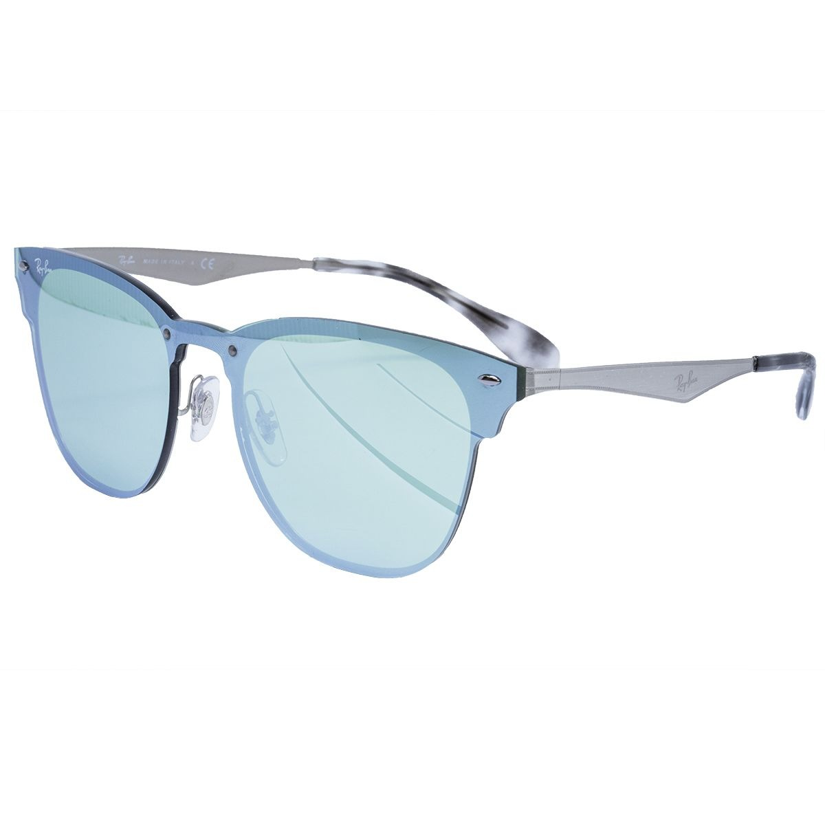 3ceda4a95b Óculos De Sol Ray Ban Original Clubmaster Blaze Silver - R$ 654,00 ...