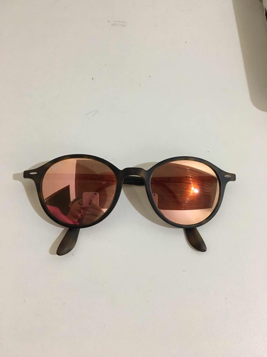 Óculos De Sol Ray Ban Original  Lente Espelhada Rose - R  250,00 em ... ce35fbf602