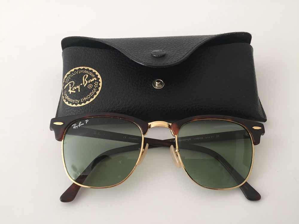 d4c98532af1fa óculos de sol ray ban polarizado clube master. Carregando zoom.
