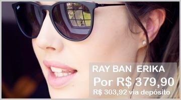 Óculos De Sol Ray Ban Rb 4171 Erika Original - R  269 0081f40c14bb6