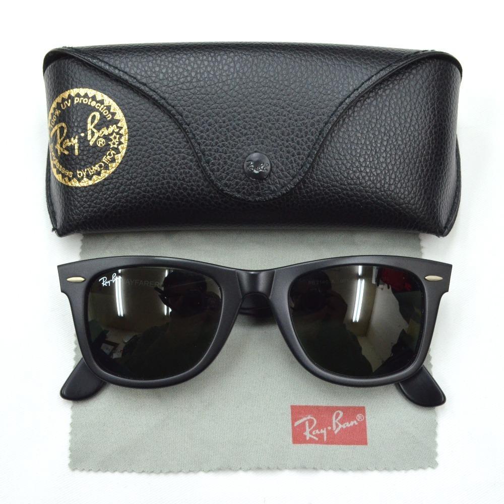 d576895066c89 óculos de sol ray-ban rb2140 wayfarer preto fosco original. Carregando zoom.
