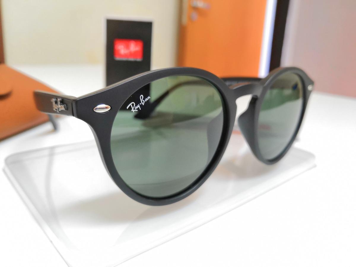 122ffcb95e25e óculos de sol ray-ban rb2180 round preto e lentes verdes g15. Carregando  zoom.