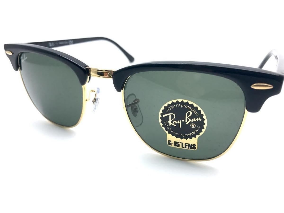 7fe30f3dd0893 ... closeout óculos de sol ray ban rb3016 clubmaster preto verde original. carregando  zoom. 6c7ce