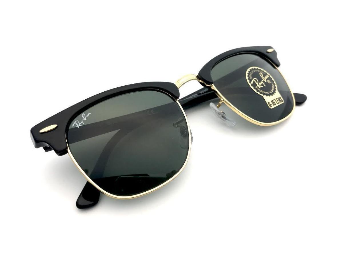f5265c53fe9dc ... closeout óculos de sol ray ban rb3016 clubmaster preto verde original. carregando  zoom. c4ce2